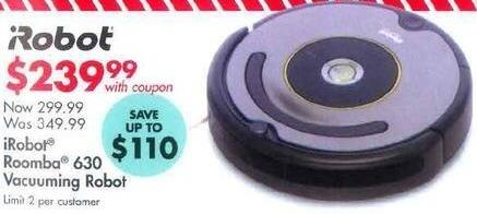 Bed Bath & Beyond Black Friday: iRobot Roomba 630 Vacuuming Robot for $239.99