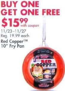 """Bed Bath & Beyond Black Friday: Two Red Copper 10"""" Fry Pans for $15.99"""