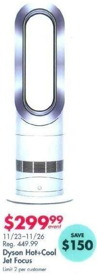 Bed Bath & Beyond Black Friday: Dyson Hot+Cool Jet Focus for $299.99