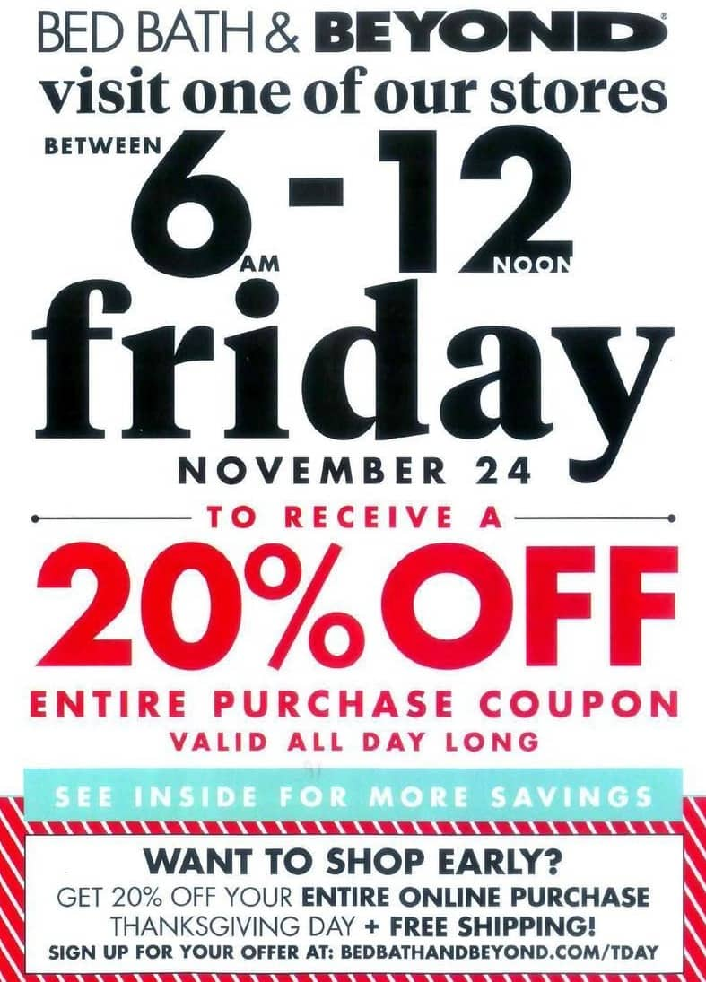 Bed Bath And Beyond Coupon Black Friday