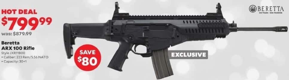 Academy Sports + Outdoors Black Friday: Beretta ARX 100 Rifle in .223 Rem/5.56 NATO for $799.99