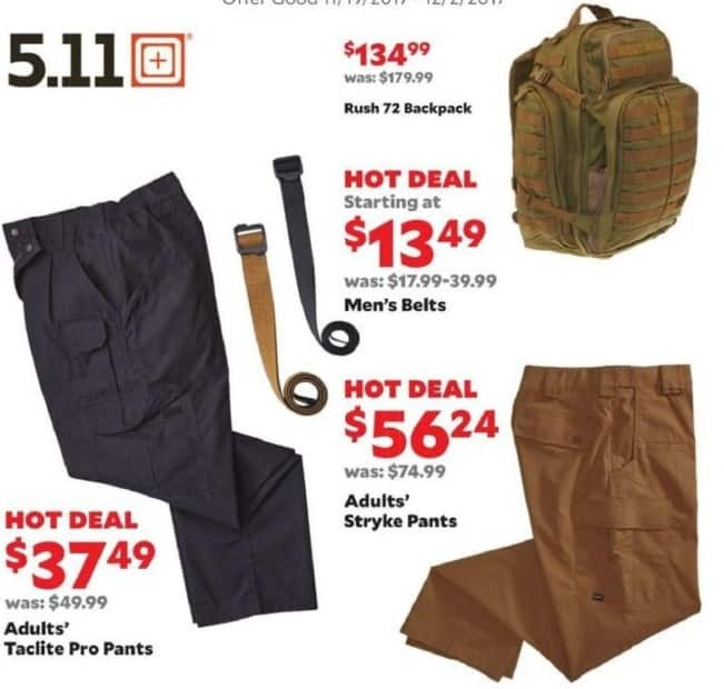 Academy Sports + Outdoors Black Friday: 5.11 Men's Stryke Pants for $56.24