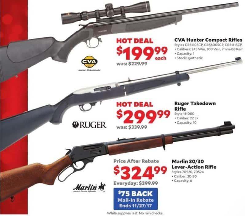Academy Sports + Outdoors Black Friday: Ruger Takedown Rifle in .22LR for $299.99