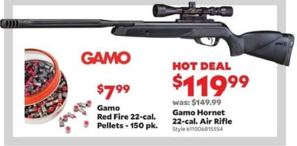 Academy Sports + Outdoors Black Friday: Gamo Red Fire .22-Cal Pellets, 150 pk. for $7.99