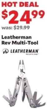 Academy Sports + Outdoors Black Friday: Leatherman Rev Multi-Tool for $24.99