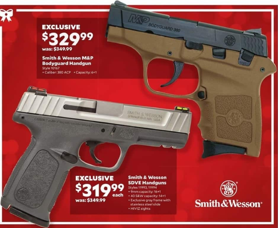 Academy Sports + Outdoors Black Friday: Smith & Wesson M&P Bodyguard .380 ACP Handgun for $329.99
