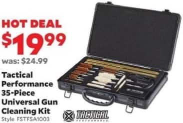 Academy Sports + Outdoors Black Friday: Tactical Performance Universal Gun Cleaning Kit, 35-Piece. for $19.99