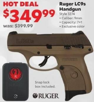 Academy Sports + Outdoors Black Friday: Ruger LC9s 9mm Handgun for $349.99
