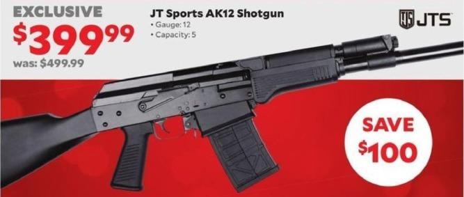 Academy Sports + Outdoors Black Friday: JT Sports AK12 12-Ga. Shotgun for $399.99