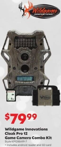 Academy Sports + Outdoors Black Friday: Wildgame Innovations Cloak Pro 12 Game Camera Combo Kit for $79.99