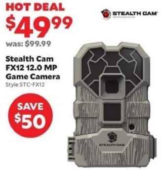 Academy Sports + Outdoors Black Friday: Stealth Cam FX12 12.0 MP Game Camera for $49.99