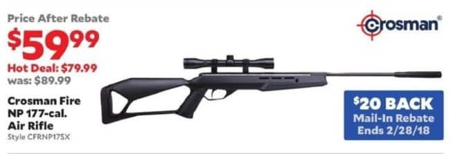 Academy Sports + Outdoors Black Friday: Crosman Fire NP .177-Cal Air Rifle for $59.99 after $20 rebate