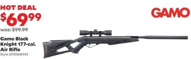Academy Sports + Outdoors Black Friday: Gamo Black Knight .177-Cal Air Rifle for $69.99