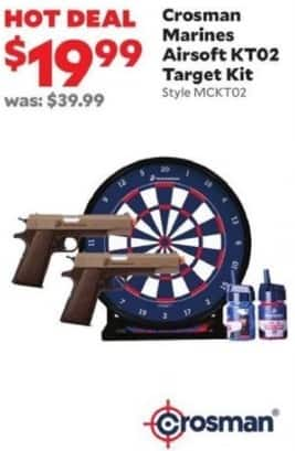 Academy Sports + Outdoors Black Friday: Crosman Marines Airsoft KT02 Target Kit for $19.99