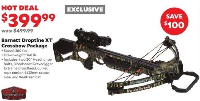 Academy Sports + Outdoors Black Friday: Barnett Droptine XT Crossbow Package for $399.99