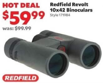 Academy Sports + Outdoors Black Friday: Redfield Revolt 10x42 Binoculars for $59.99