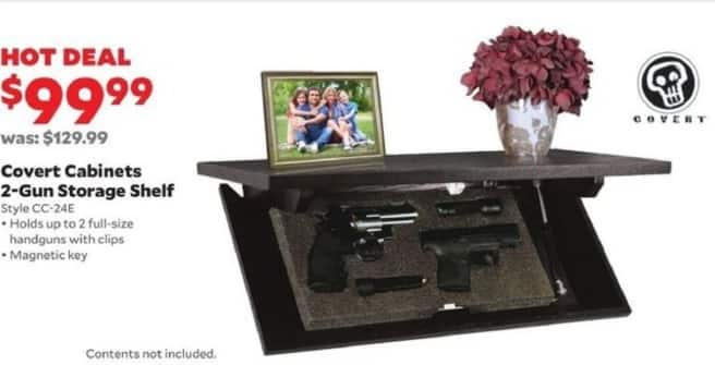 Academy Sports + Outdoors Black Friday: Covert Cabinets 2-Gun Storage Shelf for $99.99