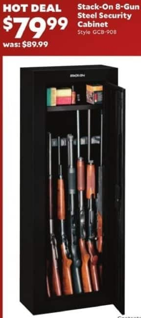 Academy Sports + Outdoors Black Friday: Stack-On 8-Gun Steel Security Cabinet for $79.99