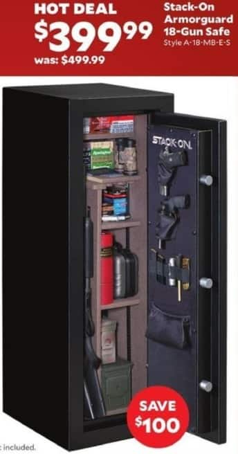 Academy Sports + Outdoors Black Friday: Stack-On Armorguard 18-Gun Safe for $399.99