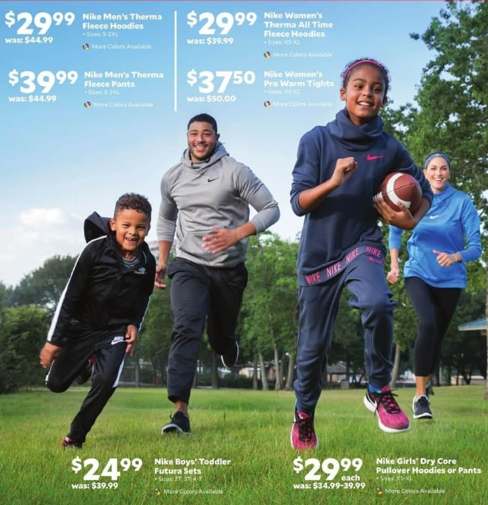 Academy Sports + Outdoors Black Friday: Nike Girls' Dry Core Pullover Hoodies or Pants for $29.99
