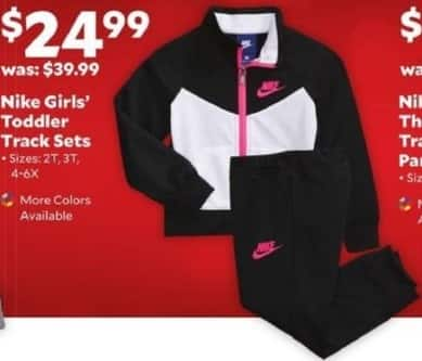 Academy Sports + Outdoors Black Friday: Nike Girls' Toddler Track Sets for $24.99