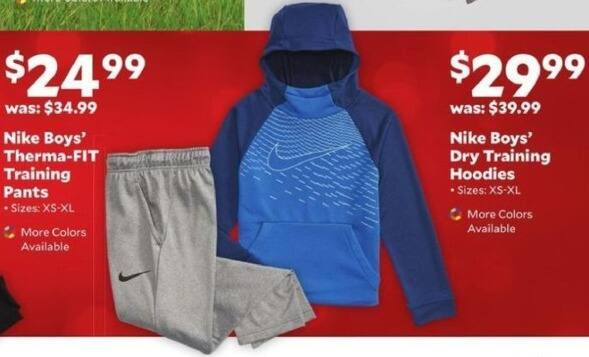 Academy Sports + Outdoors Black Friday: Nike Boys Therma-FIT Training Pants for $24.99
