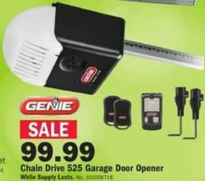 Mills Fleet Farm Black Friday: Genie Chain Drive 525 Garage Door Opener for $99.99