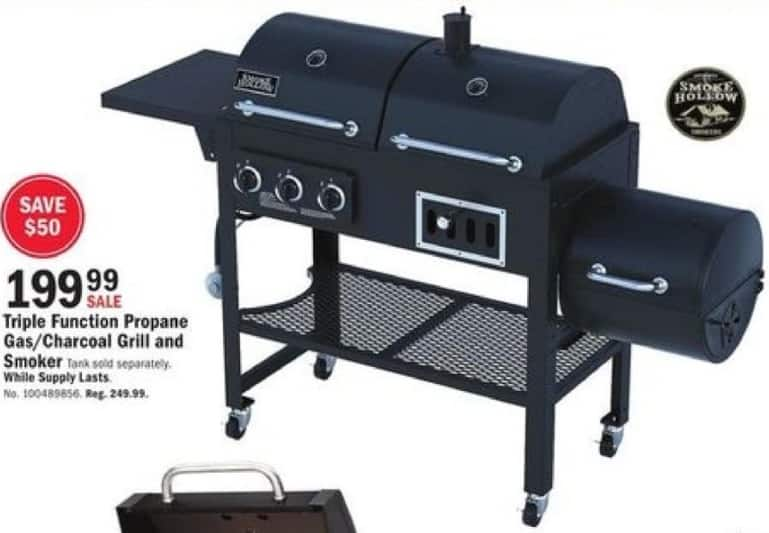Mills Fleet Farm Black Friday: Smoke Hollow Triple Function Propane Gas/Charcoal Grill and Smoker for $199.99