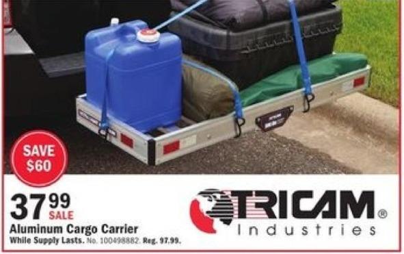 Mills Fleet Farm Black Friday: Tricam Industries Aluminum Cargo Carrier for $37.99