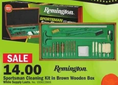 Mills Fleet Farm Black Friday: Remington Sportsman Cleaning Kit w/ Brown Wooden Box for $14.00
