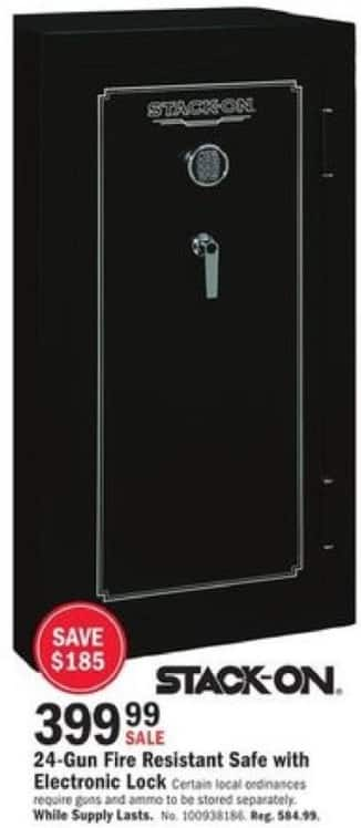 Mills Fleet Farm Black Friday: Stack-On 24-Gun Fire Resistant Safe with Electronic Lock for $399.99