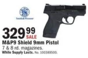 Mills Fleet Farm Black Friday: Smith & Wesson M&P9 Shield 9mm Pistol for $329.99
