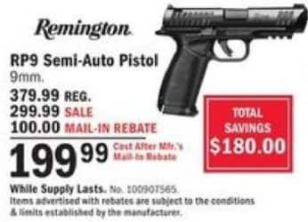 Mills Fleet Farm Promo Code >> Mills Fleet Farm Black Friday Remington Rp9 Semi Auto 9mm