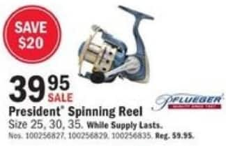 Mills Fleet Farm Black Friday: Pflueger President Spinning Reel for $39.95