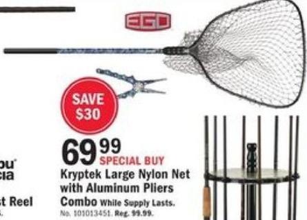Mills Fleet Farm Black Friday: EGO Kyrptek Large Nylon Net with Aluminum Pliers Combo for $69.99