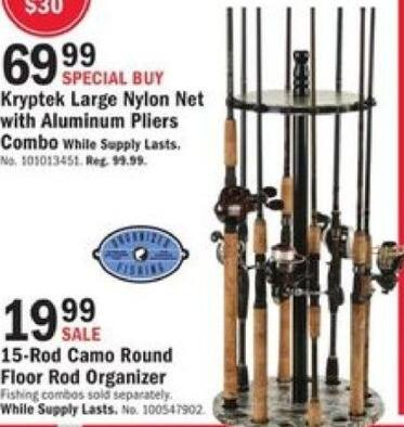 Mills Fleet Farm Black Friday: 15-Rod Camo Round Floor Fishing Rod Organizer for $19.99