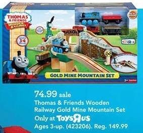 Toys R Us Black Friday: Thomas & Friends Wooden Railway Gold Mine Mountain Set for $74.99