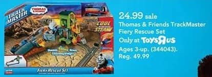 Toys R Us Black Friday: Thomas & Friends TrackMaster Fiery Rescue Set for $24.99