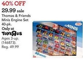 Toys R Us Black Friday: Thomas & Friends Minis Engine Set, 40-pk. for $29.99