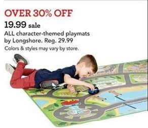 Toys R Us Black Friday: All Longshore Character-Themed Playmats for $19.00