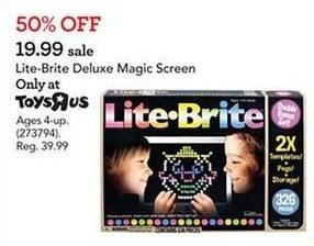 Toys R Us Black Friday: Lite-Brite Deluxe Magic Screen for $19.99