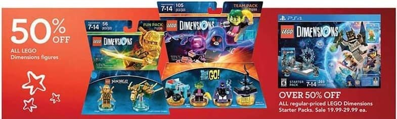 Toys R Us Black Friday: All Regular Priced LEGO Dimensions Starter Packs for $19.99 - $29.99