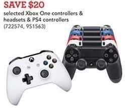 Toys R Us Black Friday: Xbox One Controllers and Headsets, Select Styles - Save $20