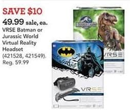 Toys R Us Black Friday: VRSE Batman or Jurassic World Virtual Reality Headset for $49.99