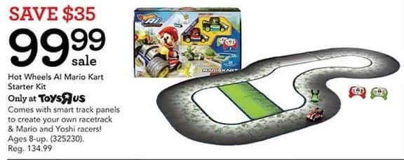 Toys R Us Black Friday: Hot Wheels AI Mario Kart Starter Kit for $99.99