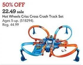 Toys R Us Black Friday: Hot Wheels Criss Cross Crash Track Set for $22.49