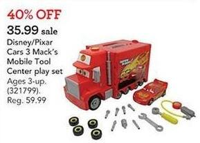 Toys R Us Black Friday: Disney Pixar Cars 3 Mack's Mobile Tool Center Play Set for $35.99