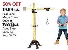 Toys R Us Black Friday: Mega Crane for $19.99