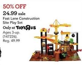 Toys R Us Black Friday: Fast Lane Construction Site Plate Set for $24.99