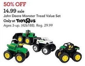 Toys R Us Black Friday: John Deere Monster Tread Value Set for $14.99